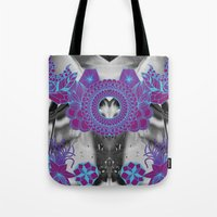 geode Tote Bags featuring Geode 2 by michiko_design
