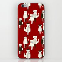 foxes iPhone & iPod Skins featuring foxes.... by mummysam