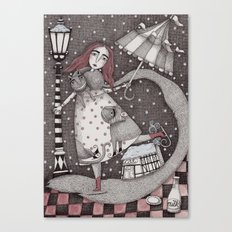 Alice's First Snow Canvas Print