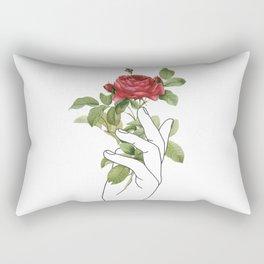 Flower in the Hand Rectangular Pillow