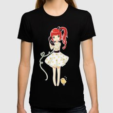 Hello Womens Fitted Tee Black SMALL