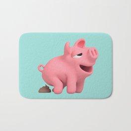 Rosa the Pig takes a poop Bath Mat