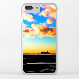 Belfast Ferry at Sunset Clear iPhone Case