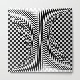 black white 09 Metal Print