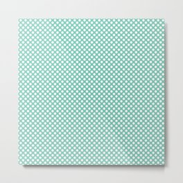 Lucite Green and White Polka Dots Metal Print