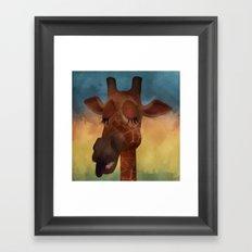 Sleeping Giraffe  Framed Art Print