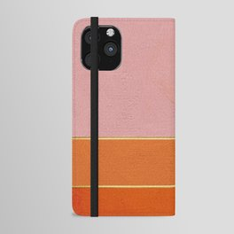 Orange, Pink And Gold Abstract Painting iPhone Wallet Case