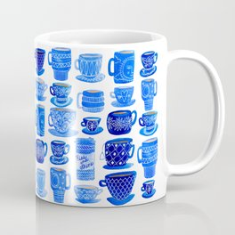 Coffee Mugs and Tea Cups - A study in blues Coffee Mug