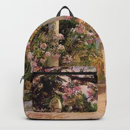 Almond Trees & Wild Rose Blossoms by Georges Antoine Rochegrosse Backpack
