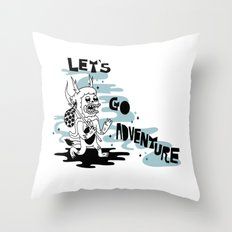 Lets Go Adventure Throw Pillow