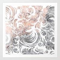 Leaves Pattern Art Print