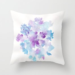 180714 Abstract Watercolour Purple Blue 12| Watercolor Brush Strokes Throw Pillow