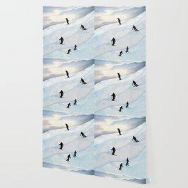 Skiing in Infinity Wallpaper