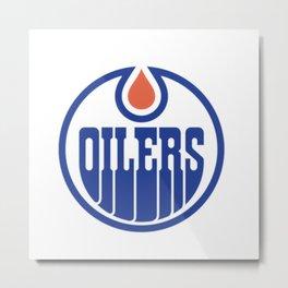 Oilers Logo Metal Print