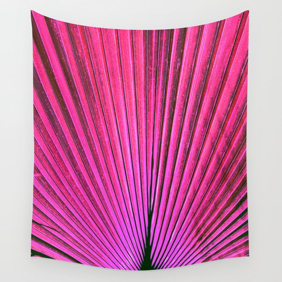 Pink Wall Tapestry palm fronds 3 in pink wall tapestryregan's world | society6