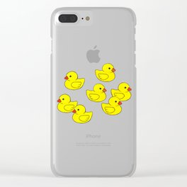 Oh Ducks! Clear iPhone Case