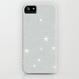 Grey star with fabric texture - narwhal collection iPhone Case