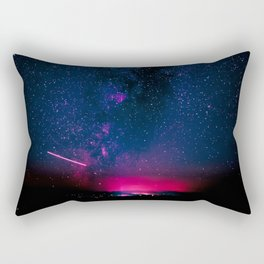 Electric Desert Starry Night Rectangular Pillow