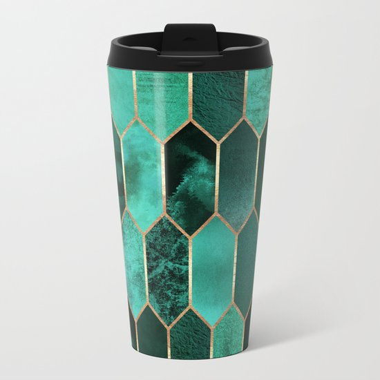 Stained Glass 2 Metal Travel Mug