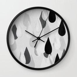 No. 9 - Raindrops Wall Clock