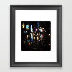 Blurry Times Square  Framed Art Print