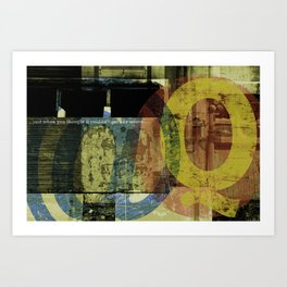 just when you thought... Art Print