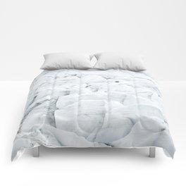 White winter glacier icelandic landscape photography Comforters