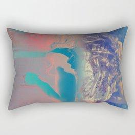 Walking woman Rectangular Pillow