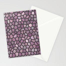Mauve Pink Mosaic Pattern - darker Stationery Cards