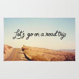 Let's Go on a Road Trip Rug