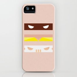 Teenage Minimal Ninja Good Guys iPhone Case
