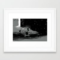 astronomy Framed Art Prints featuring Astronomy Jim by Allie Morris