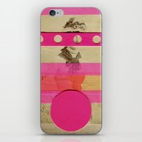 transistor iPhone & iPod Skins featuring Fluo Transistor by Naomi Vona