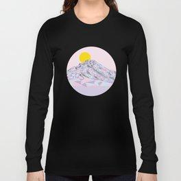 Geometric Mt. Hood Long Sleeve T-shirt