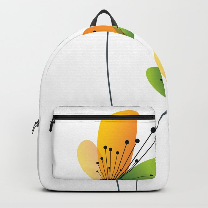 Abstract Flowers Backpack