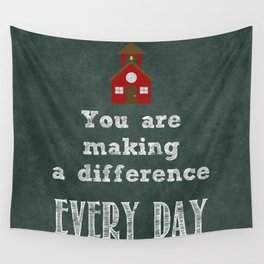 You are making a difference Wall Tapestry