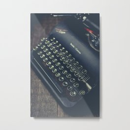Vintage Typewriter Faded Film Metal Print