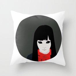 Black Eyed Kid Throw Pillow