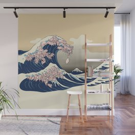 The Great Wave of Pigs Wall Mural