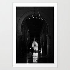 en la mezquita Art Print