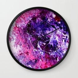 Plum Nebula Wall Clock