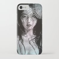 geisha iPhone & iPod Cases featuring Geisha by Mary Alice Art