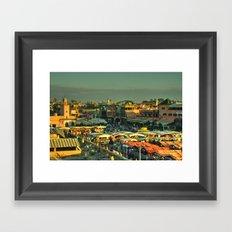 The marketplace of Marrakesh Framed Art Print