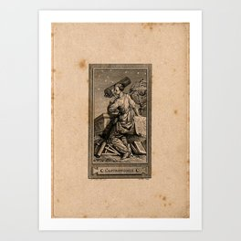 Allegory of Astronomy, C.N. Cochin the Younger (1773) Art Print