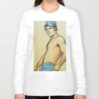lou reed Long Sleeve T-shirts featuring Lou by NathanRapportArt