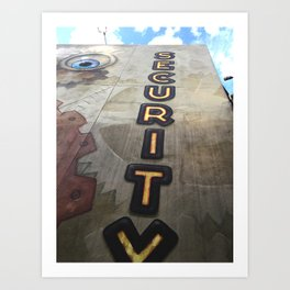 Security Sign to the Sky Art Print