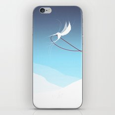 Hummingbird and a red thread iPhone & iPod Skin