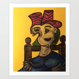Thoughts of Picasso Art Print