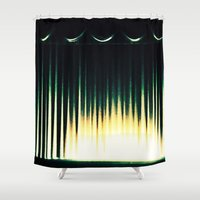 theater Shower Curtains featuring Theater by Lipstick Vandalism