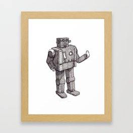 Robot Toy Shirt Framed Art Print